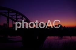 丸子橋の夕暮れ